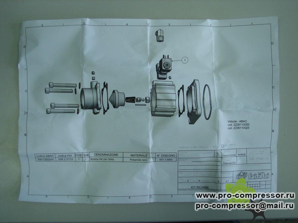 Электромагнитная катушка Abac 24V 2901320200