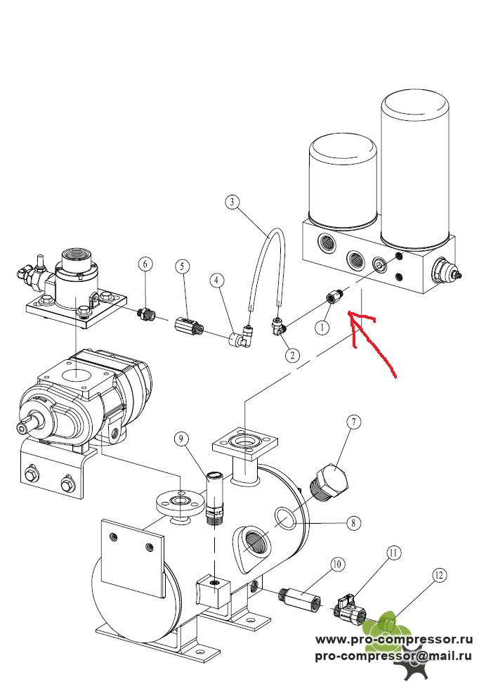 Запчасти для компрессора Ekomak DMD55CR