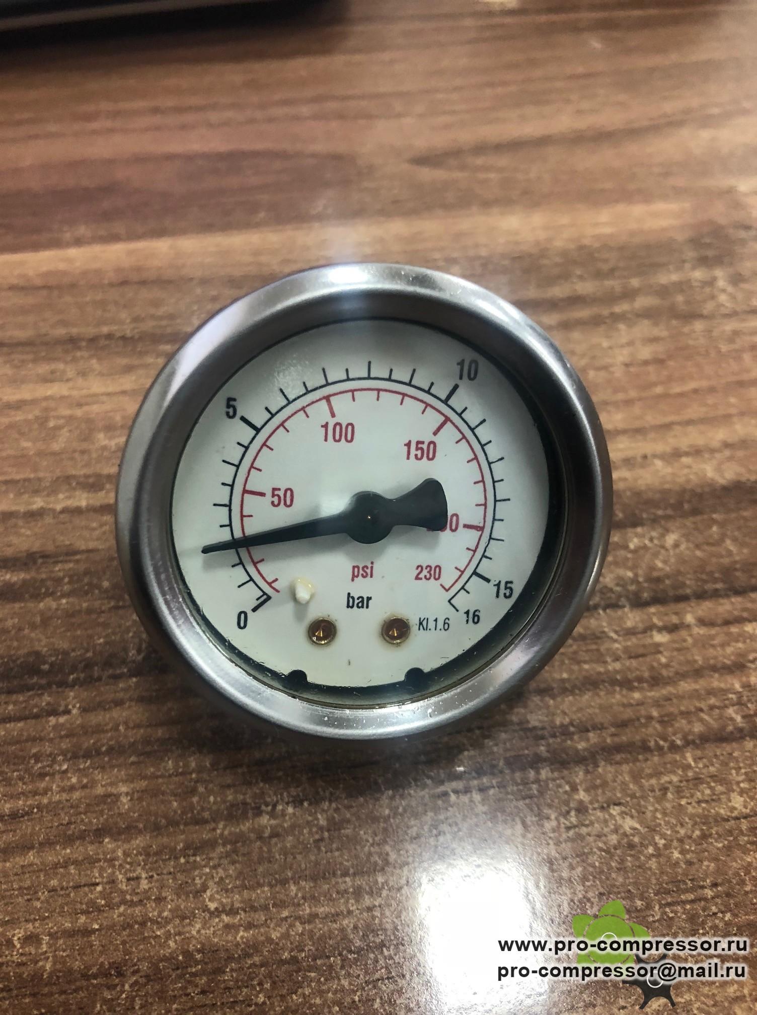 Манометр для компрессора Fiac New Silver d10-300