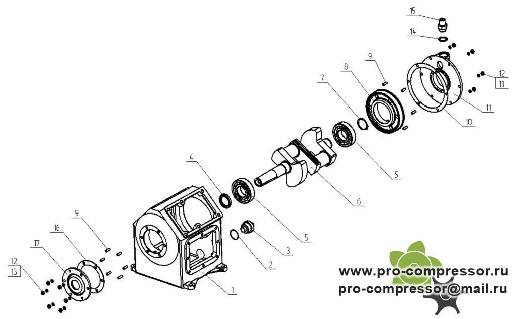 Запчасти для компрессора С416М