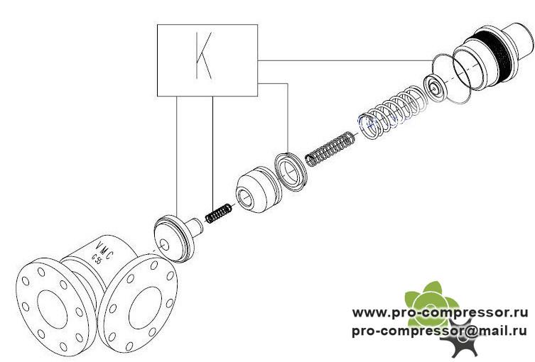 Клапан минимального давления g55r 220.1420