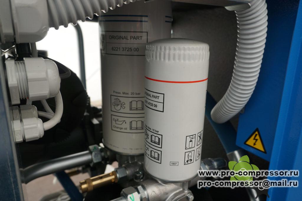 Расположение на компрессоре сепаратора 6221 3725 50, 6221 3725 00