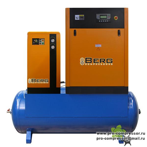 Винтовые компрессоры Berg установленные на ресивере