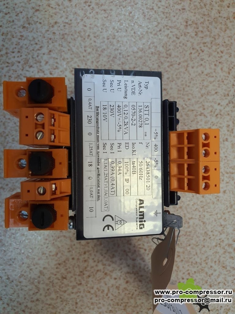 136.00278 трансформатор напряжения stt 0.1 400/230/18/10 v huts