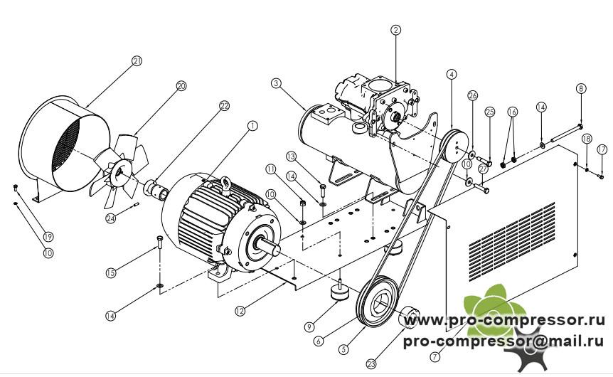 Шкивы компрессора Ekomak DMD100